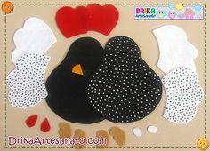 Peso de porta de Galinha de Angola feito com feltro Easter Crafts, Felt Crafts, Fabric Crafts, Sewing Crafts, Diy And Crafts, Fabric Toys, Felt Fabric, Craft Projects, Sewing Projects
