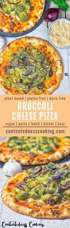 The best Broccoli Cheese Vegan Pizza is here. It's made from just 6 ingredients and in 2 easy steps. A satisfying, filling, and comforting plant based meal. Gluten free too