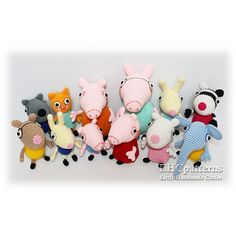 Peppa Pig Characters pattern by Kristine Kuluka