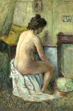 Pierre Bonnard (1867-1947) Femme nue assise
