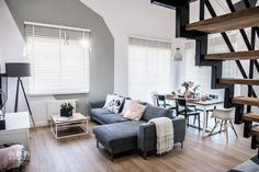 Contemporary apartment by Shoko Design 13 Apartment Interior, Home Interior, Family Apartment, Home Living Room, Living Room Designs, Living Area, Home Deco, Decoracion Vintage Chic, Loft House