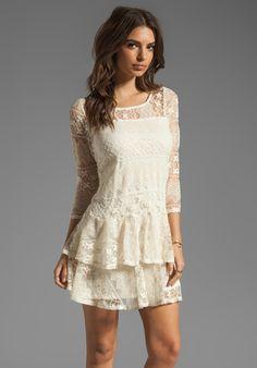ELLA MOSS Kayte Lace Dress in Linen