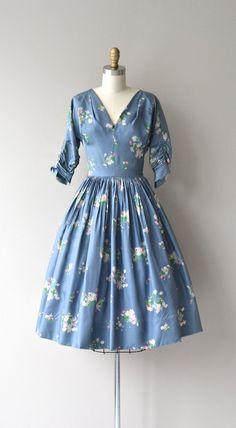 Garden in the Sky dress vintage 1950s dress floral by DearGolden