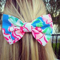 preppy hair bow