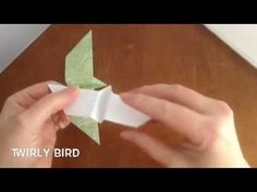 Twirly Bird Origami - It's a fun and easy project to make.   #origami #origamibird