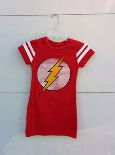 Girls The Flash Tshirt Dress Size 6  Red women's by amykalbster