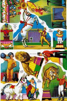 Vintage Paper Scraps Circus