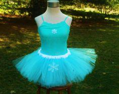 Princess Elsa Snow Queen Inspired from Disney Movie Frozen Adult Running Marathon Tutu Skirt Dress Birthday Party Costume Halloween