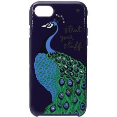 Kate Spade New York Strut Your Stuff Phone Case for iPhone 7 (Blue... ($45) ❤ liked on Polyvore featuring accessories, tech accessories, kate spade, blue smartphone and iphone smartphone