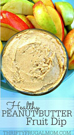 This easy 4 ingredients peanut butter dip will blow you away! It's so creamy and goes perfectly with apples and bananas, graham crackers or pretzels for a healthy snack. #SnackandSmile #sponsored