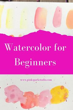 Watercolor for Beginners Learn how to paint with watercolors. Painting with watercolor does not have to be complicated or scary. With the right supplies and a few tips and techniques you can learnhow to paint with watercolors. Learn Watercolor Painting, Watercolor Beginner, Watercolor Paintings For Beginners, Watercolor Pictures, Acrylic Painting Lessons, Watercolor Projects, Easy Watercolor, Watercolour Tutorials, Oil Painting Abstract