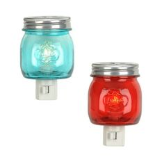 Rustic Glass Jar Night Lights | Kirklands