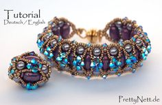 Beading Pattern 2 in 1 Beading Tutorial bracelet от PrettyNett