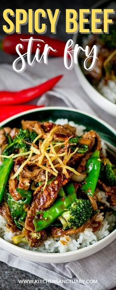 Asian Recipes, Beef Recipes, Healthy Recipes, Delicious Recipes, Tasty, Yummy Food, Vegetable Side Dishes, Vegetable Recipes, Ginger Beef Stirfry
