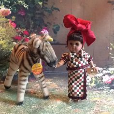 Old Steiff with newer Ginny Doll