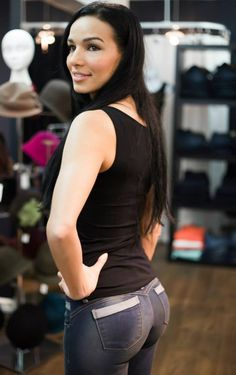 You've heard of push-up bras, but what about push-up jeans?Ivido Brand Jeans, founded by Latina Ivis Gonzalez, is a clothing line and boutique located. Jeans Brands, Push Up, Women's Fashion, Boutique, Tank Tops, How To Make, Photography, Inspiration, Clothes