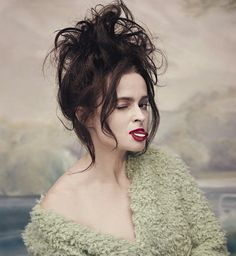 Helena Bonham Carter photographed by Elena Rendina for The Sunday Times Style Magazine, 2016.