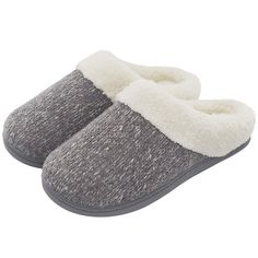 Closed-Back Indoor House Shoes Comfortable Soft Autumn and Winter Solid Color Plush House Slippers M 38-39 Cotton Slippers for Women