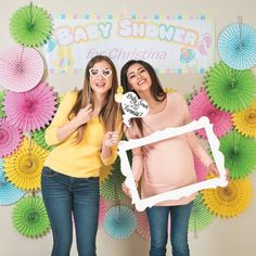 DIY+Baby+Shower+Photo+Booth+Idea+-+OrientalTrading.com