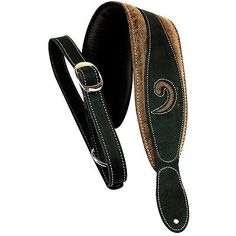 musical instruments: Lm Products 3 Leather Bass Clef Padded Guitar Strap Black BUY IT NOW ONLY: $44.61