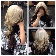 Again, usually don't like the black and blonde look but I like how it's done here. Maybe I'll try it reversed..