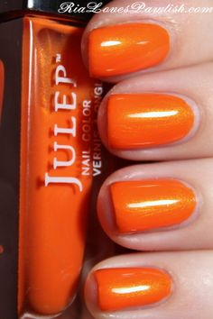 julep -Marjorie nail color looks like pure pumpkin color. Great for fall