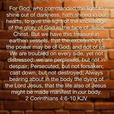 2 Cor. 4:6-10