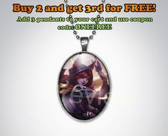 Xayah League of Legends Keychain or Pendant Oval League of