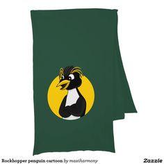 Rockhopper penguin cartoon scarves