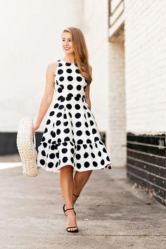 Polka Dot Flounce Dress By Lonestar Southern