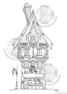 Colouring Pages, Printable Coloring Pages, Bicycle Shop, Page Online, Colored Pencils, Line Art, Handmade Items, Pdf, Printables