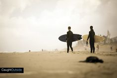 a couple guys ready to head out  #beach #surfer