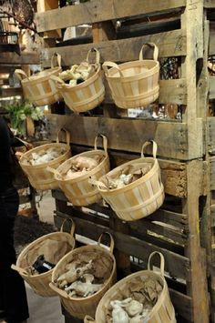 This display utilizes grove baskets to hold merchandise in the HomArt showroom at AmericasMart in Atlanta, GA. Description from pinterest.com. I searched for this on bing.com/images