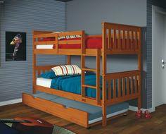 Kids Trundle Beds in Honey - Custom Kids Furniture