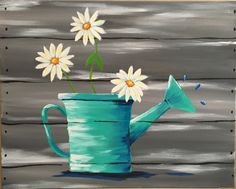 """Spring Daisies"" acrylic painting by Jonna Wormald for Cork & Canvas"