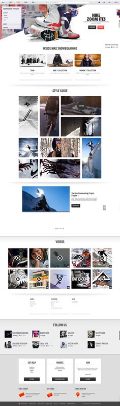 Nike Snowboarding website