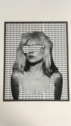 Photography Discover A Portrait of Debbie Harry of Blondie with the repeated words Call Me - taken from one of their songs. Collage Kunst, Mode Collage, Art Du Collage, Aesthetic Collage, Collage Walls, Poster Collage, Collage Portrait, Collage Background, Editing Background