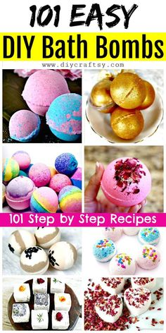 How to make easy DIY bath bombs at home? We have brought these 101 easy DIY Bath Bombs Recipe Tutorials that are all different, unique and amazing and will really turn taking bath into a big fun! Crafts For Teens, Crafts To Make, Easy Crafts, Easy Diys For Kids, Diy Crafts For Gifts, Diy Arts And Crafts, Kids Diy, Easy Diy Projects, Kids Crafts