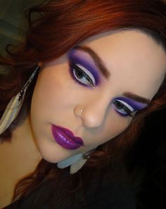 I love this eyeshadow look and I already own the lipstick.  One of my faves this season Violetta by MAC.