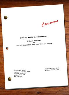 Claim This FREE Download: How to Write a Screenplay Webinar presented by our Editor, Jeanne Veillette Bowerman!