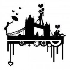 Sticker London Love