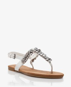 Bejeweled Thong Sandals | FOREVER21 - 1036243041