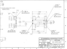 Fab Drawing - Machined Part with GD (Geometric Dimensioning & Tolerancing) ANSI-Y14