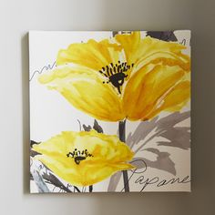 Courtside Market Poppy I Painting Print on Wrapped Canvas
