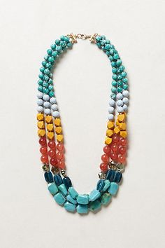 Clifton Strands Necklace  #anthropologie. Another fun fall necklace. Great for gingers!