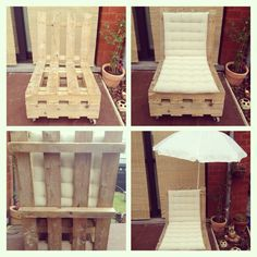Jardins on pinterest salons pallet sofa and woodworking - Fauteuil en bois de palette ...