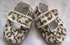 Sewing pattern for super cute baby shoes made from fabric scraps