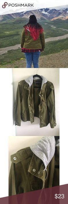 Army Green Utility Jacket Forever 21 Plus I bought this jacket for my trip to Alaska a couple of summers ago. Haven't worn it much since because it's no longer my size AND I live in SoCal. So it's in good condition. Let me know if you have any questions! Forever 21 Jackets & Coats Utility Jackets