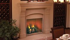 """Fireplace Marketplace - Superior Fireplace™ 36"""" Direct Vent Fireplace - Red Stacked Refractory Panels, $1,988.10 (http://shop.fireplacemarketplace.com/superior-fireplace-36-direct-vent-fireplace-red-stacked-refractory-panels/)"""