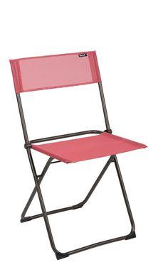 Gartenstuhl rot   Klappstuhl rot   Lafuma Anytime Balkonstuhl Stahl/Batyline® - mehr rote Gartenmöbel gibt's bei Garten-und-Freizeit.de